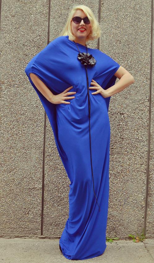 Royal Blue Maxi Dress / Plus Size Blue Kaftan | TEYXO | Shop ...