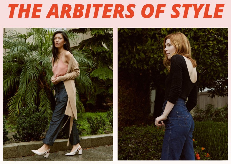 NY Times Feature Header of Stephanie from Honey & Silk, and Courtney of Pretty Little Fawn