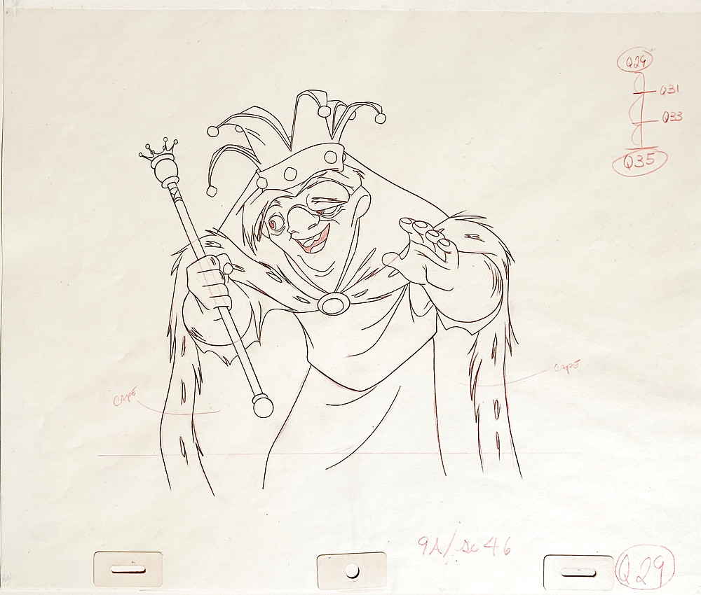 "Original Production Animation Drawing of Quasimodo from ""The Hunchback of Notre Dame"" 1996"