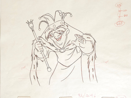 """Original Production Animation Drawing of Quasimodo from """"The Hunchback of Notre Dame"""" 1996"""