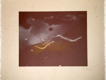 """Comet,"" 1980-82; Soft-ground Etching, Sugar-lift Etching, & Aquatint Collage by Helen Frankenthaler"