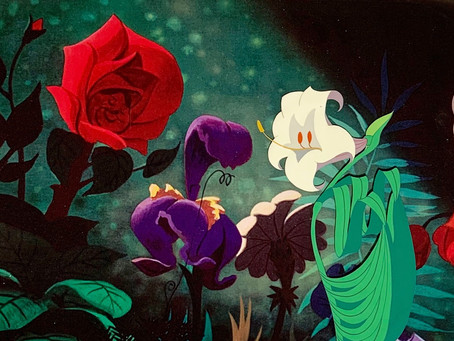 "Original Production Animation Cel of The Lily Flower from ""Alice In Wonderland,"" 1951"