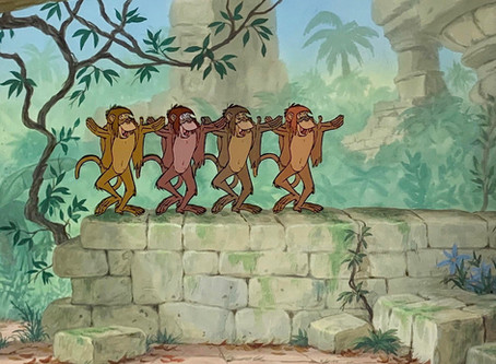 """Original Production Animation Cel of Four Monkeys from """"The Jungle Book,"""" 1967"""