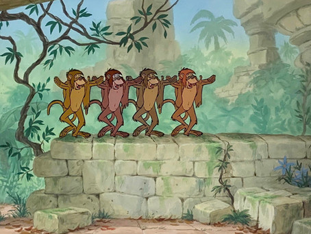 "Original Production Animation Cel of Four Monkeys from ""The Jungle Book,"" 1967"
