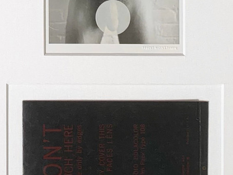 Self Portrait With Camera: Invitation To Light Gallery Opening January 6 1973 by Robert Mapplethorpe