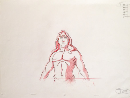 "Original Production Animation Drawing of Tarzan from ""Tarzan,"" 1999"