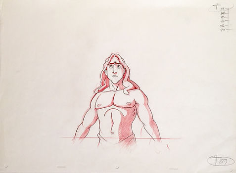 Walt Disney Tarzan Original Production Animation Drawing