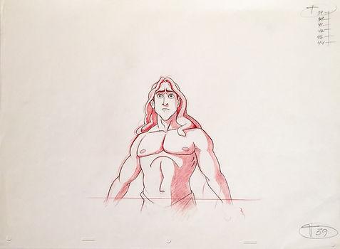 Walt Disney Tarzan Original Production Animation Drawing