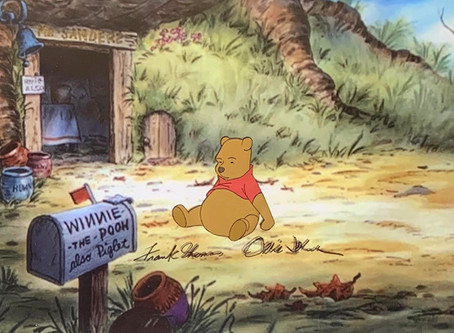 """Original Production Animation Cel of Winnie The Pooh from """"Winnie The Pooh and Tigger Too,"""" 1974"""