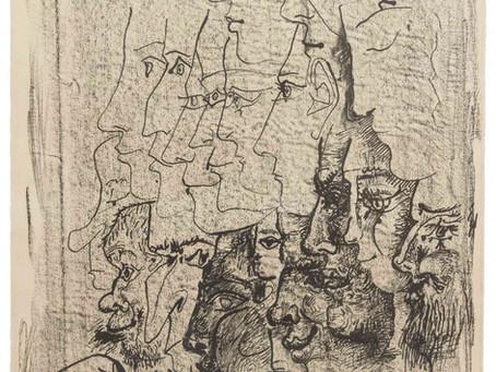 """Pablo Picasso - """"Étude de Profils (Study of Profiles)"""""""