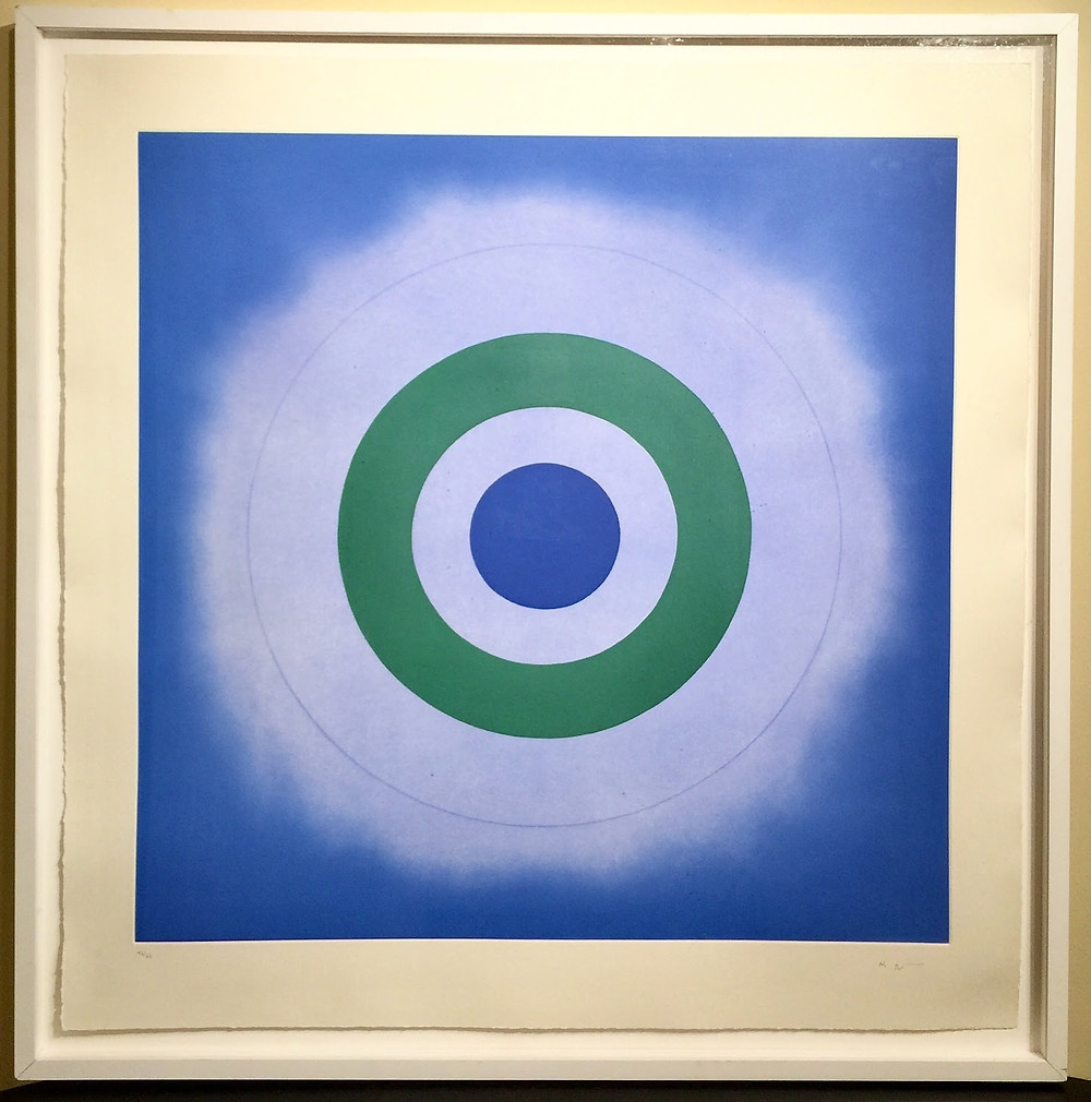 "Framed ""Untitled,"" 2009 by Kenneth Noland."