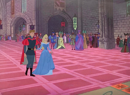 """Original Production Animation Cel of Prince Phillip and Princess Aurora from """"Sleeping Beauty,"""" 1959"""