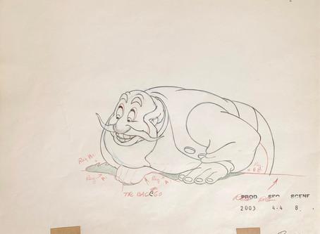 "Original Production Animation Drawing of Stromboli from ""Pinocchio,"" 1940"