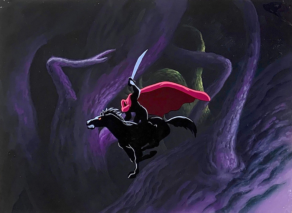 "Original Production Animation Cel of the Headless Horseman from ""The Legend of Sleepy Hollow"", 1949"