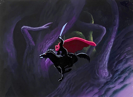"""Original Production Animation Cel of the Headless Horseman from """"The Legend of Sleepy Hollow"""", 1949"""