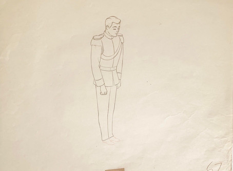 """Original Production Animation Drawing of Prince Charming from """"Cinderella,"""" 1950"""