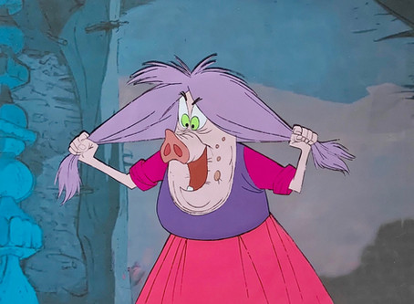 """Original Production Animation Cel of Mad Madam Mim from """"The Sword In The Stone,"""" 1963"""