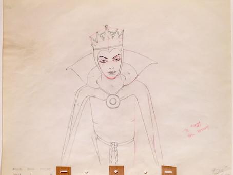 "Original Production Animation Drawing of the Evil Queen from ""Snow White And The Seven Dwarfs,"" 1937"
