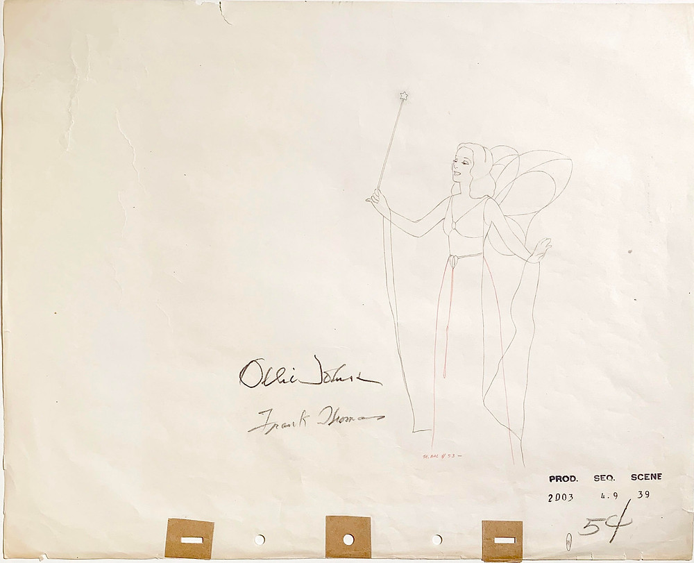 "Original Production Animation Drawing of the Blue Fairy from ""Pinocchio,"" 1940"