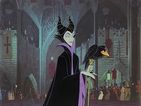 "Original Production Animation Cels of Maleficent and Diablo from ""Sleeping Beauty,"" 1959"