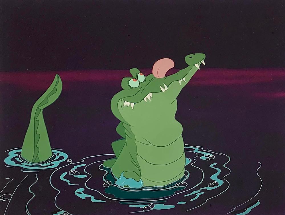 "Original Production Animation Cel Setup of Tick-Tock from ""Peter Pan,"" 1953"