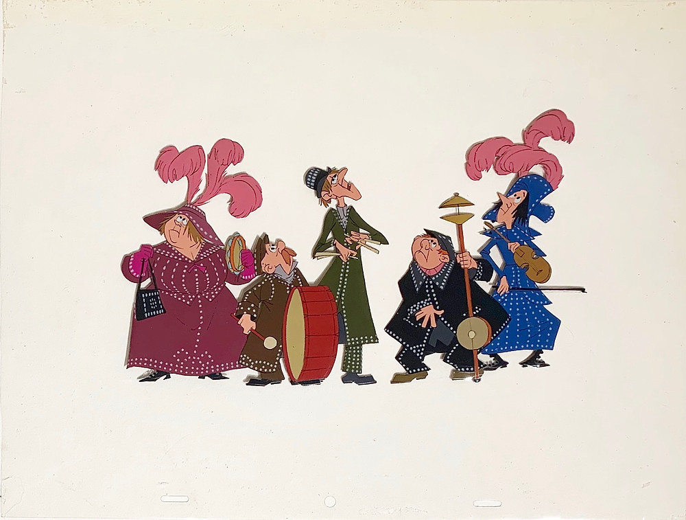 Original production animation cel of The Pearly Band without the background.