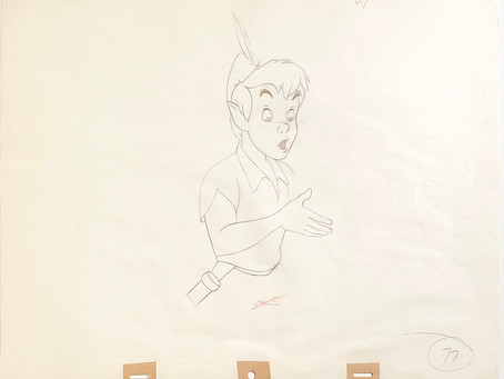 "Original Production Animation Drawing of Peter Pan from ""Peter Pan,"" 1953"