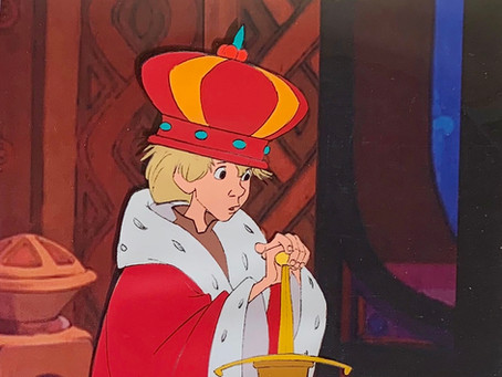 "Original Production Cel of Wart as King Arthur from ""The Sword In The Stone,"" 1963"