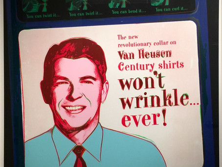 """Van Heusen (Ronald Reagan)"" From Ads, 1985 by Andy Warhol"