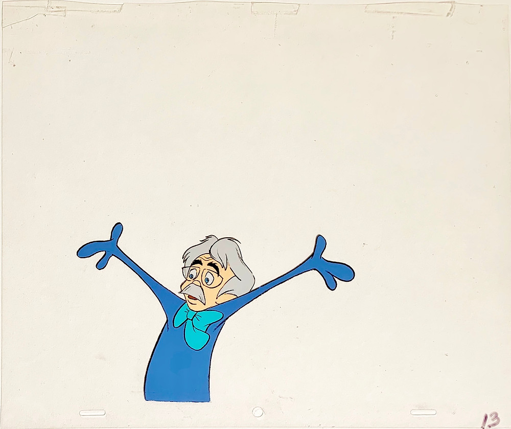 Original production animation cel of Dr. H. Hoovey.