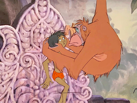 "Original Production Animation Cel of King Louie and Mowgli from ""The Jungle Book,"" 1967"