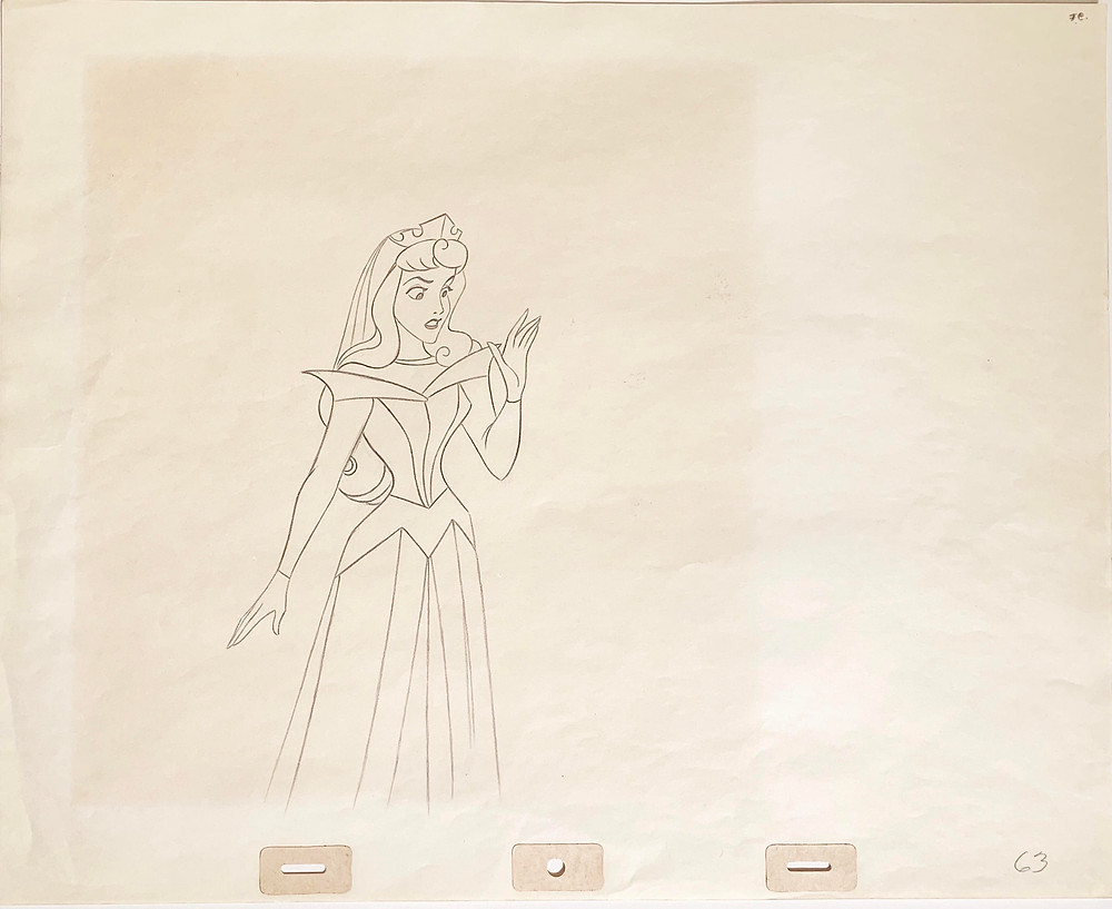 "Original Production Animation Drawing of Princess Aurora from ""Sleeping Beauty,"" 1959"