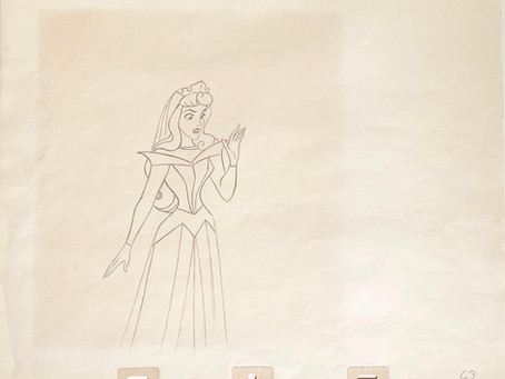 "Original Production Animation Drawing of Princess Aurora from ""Sleeping Beauty,"" 1959"