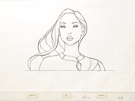 "Original Production Animation Drawing of Pocahontas from ""Pocahontas,"" 1995"