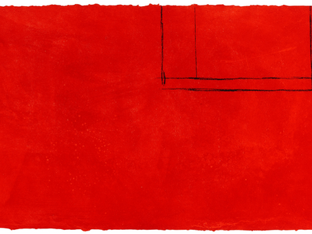 Red Open with White Line, 1979 by Robert Motherwell