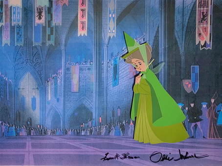 "Original Production Animation Cel of Fauna from ""Sleeping Beauty,"" 1959"