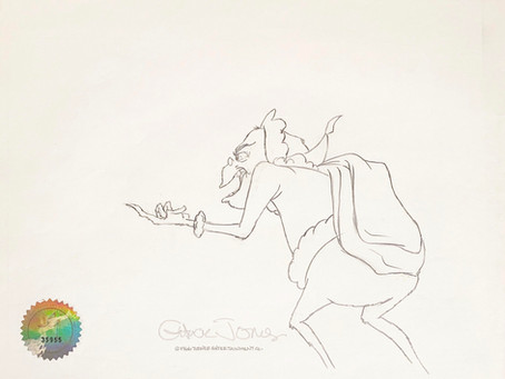"Original Production Animation Drawing of the Grinch from ""How the Grinch Stole Christmas!"" 1966"