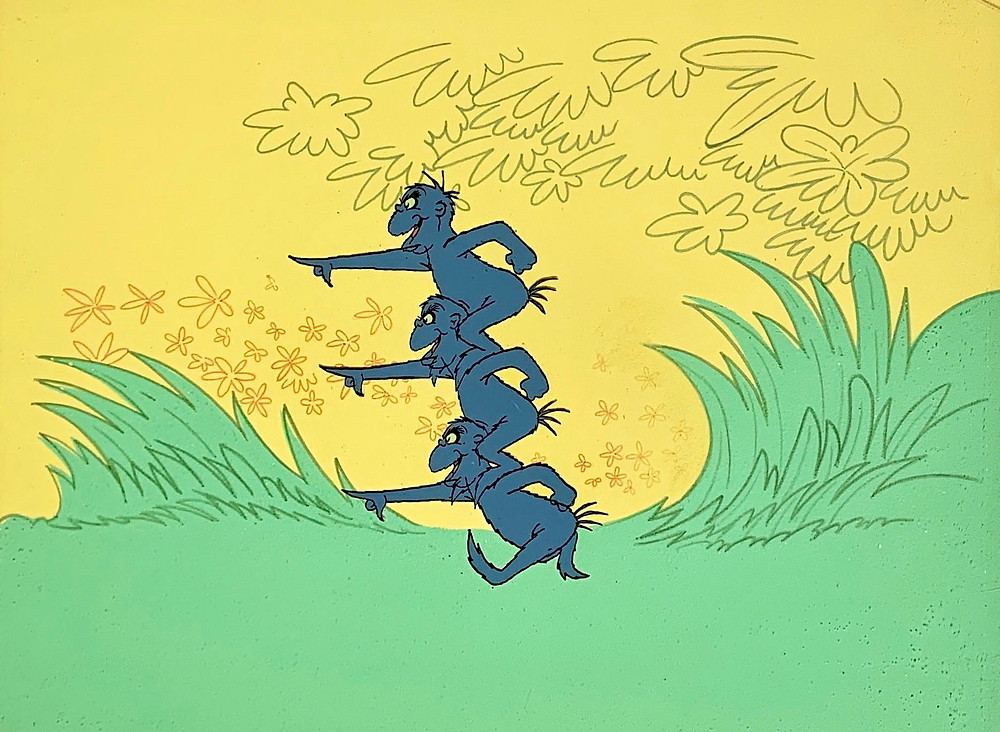 """Original Production Animation Background and Cel of The Wickersham Brothers from Dr. Seuss """"Horton Hears A Who!,"""" 1970"""