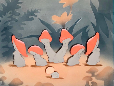 "Original Animation Cel of Mushrooms from ""The Nutcracker Suite"" sequence of ""Fantasia,"" 1940"