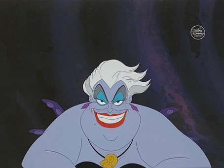 """Original Production Animation Cels of Ursula and her Tentacles from """"The Little Mermaid,"""" 1989"""