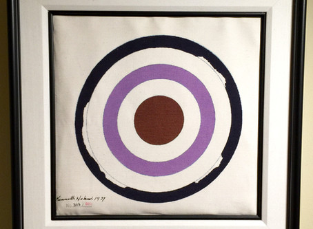 Kenneth Noland - Coach Bag With Circle Painting