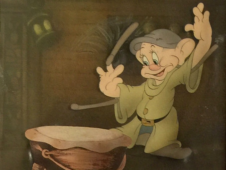 "Original Production Animation Cel of Dopey from ""Snow White and the ""Snow White and the Seven Dwarfs"
