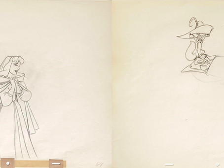 "Original Production Animation Drawings of Briar Rose and Mock Prince from ""Sleeping Beauty,"" 1959"