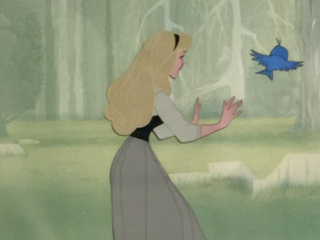 "Original Production Animation Cels of Briar Rose And A Pair of Birds From ""Sleeping Beauty,"" 1959"