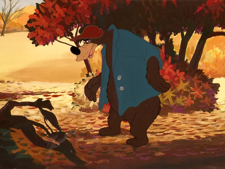 "Original Production Cel of Br'er Bear from ""Song of the South,"" 1946"