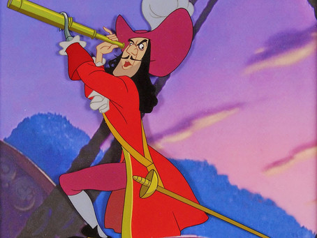 "Original Production Cel of Captain Hook from ""Peter Pan,"" 1953"