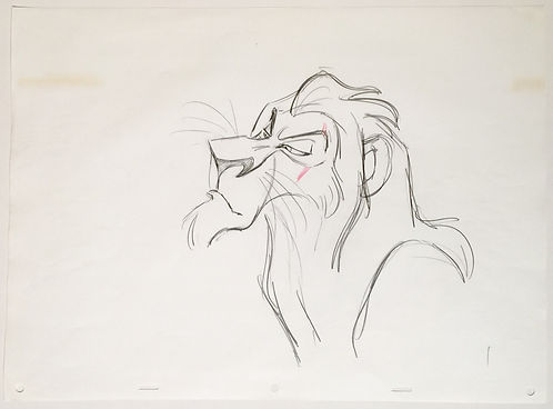 Walt Disney The Lion King Original Production Animation Drawing