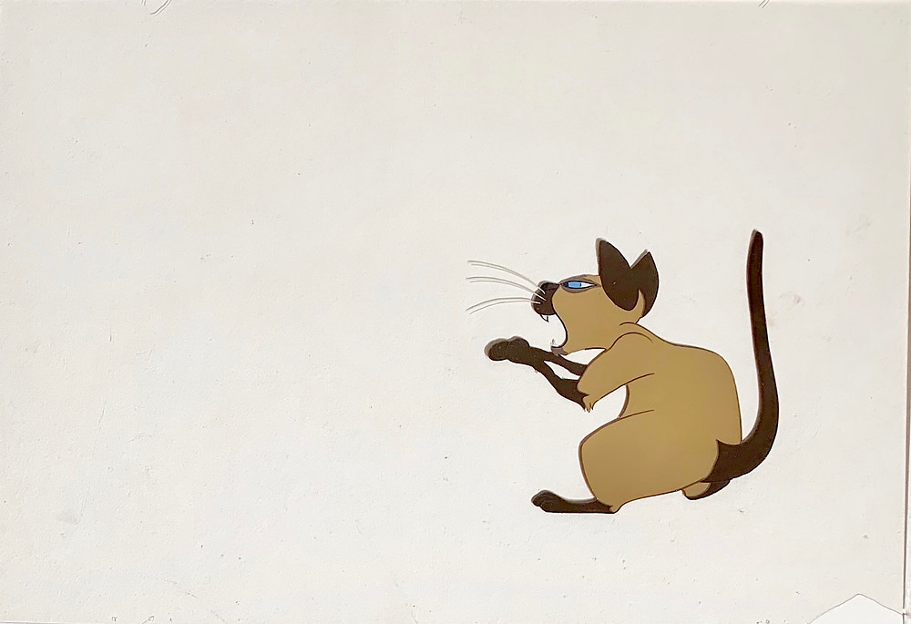 Original production animation cel of Si without the background.