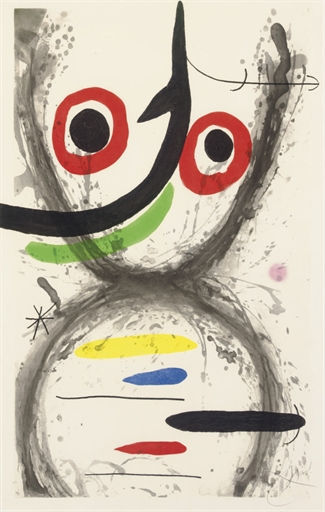 Joan Miro Carborundum Etching Signed and Numbered