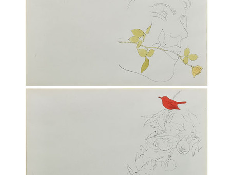 Andy Warhol - Double-sided Watercolor